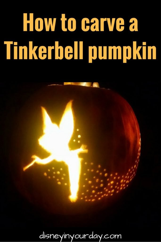 Carving a Tinkerbell pumpkin Disney in your Day – Tinkerbell Pumpkin Template