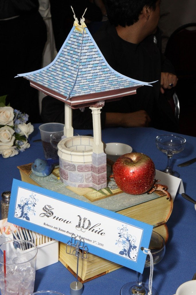 Disney fairy tale wedding centerpieces - Disney in your Day
