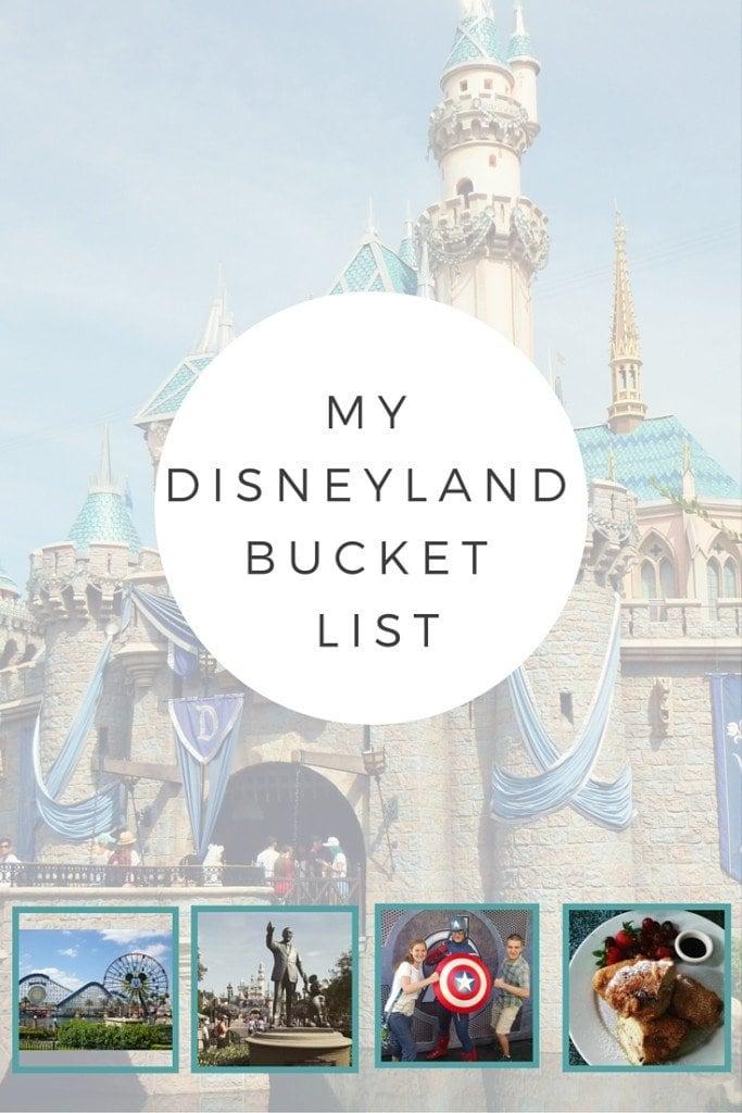 Disneyland bucket list - Disney in your Day