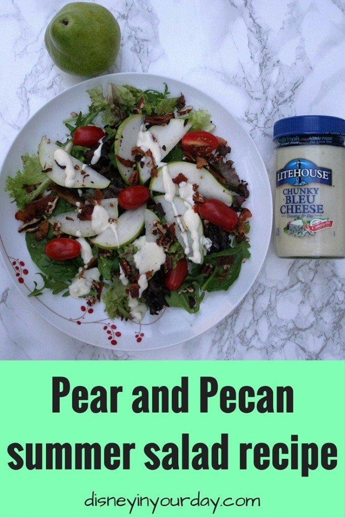 Pear and Pecan summer salad recipe