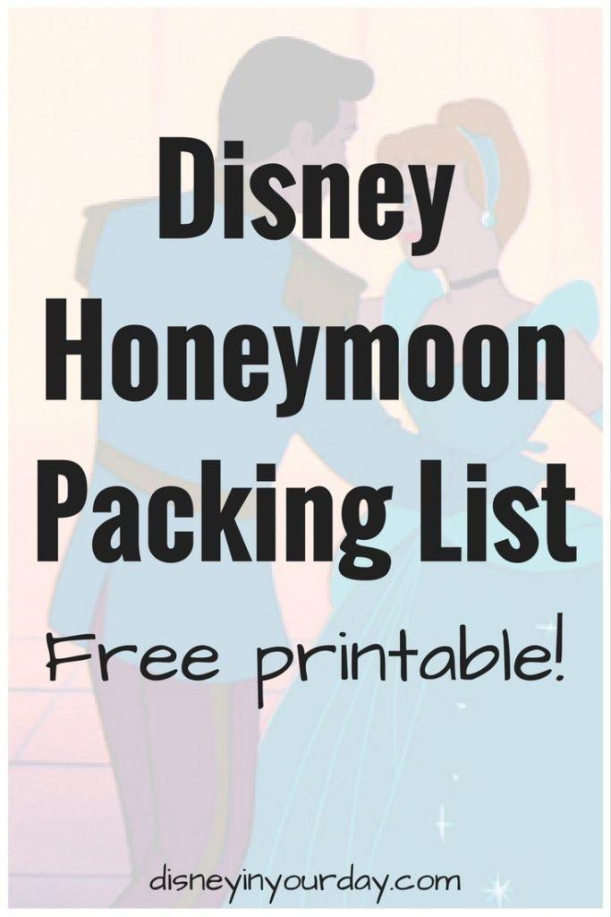Disney Honeymoon Packing List