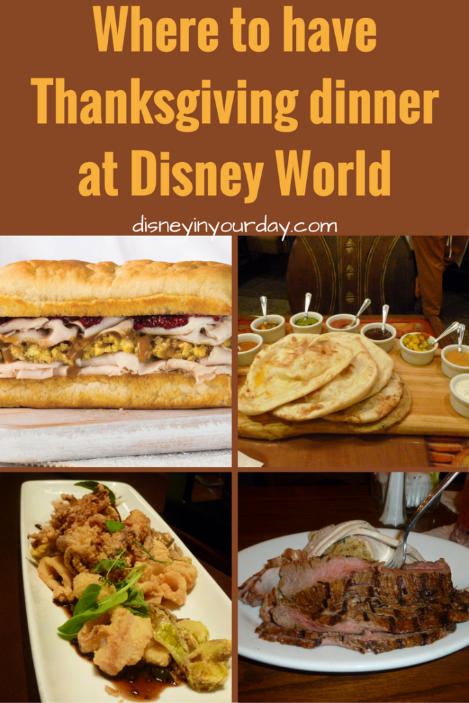 Thanksgiving Dinner at Disney World - Disney in your Day