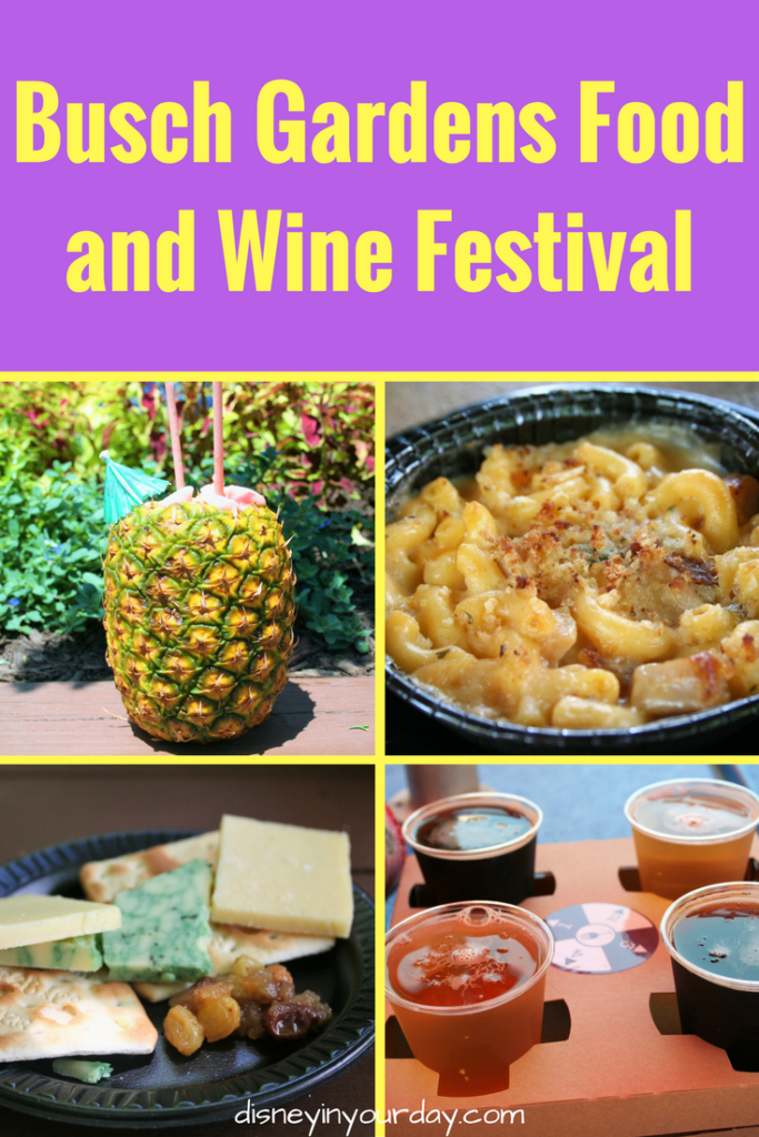 Busch Gardens Food And Wine Festival 2017 Disney In Your Day