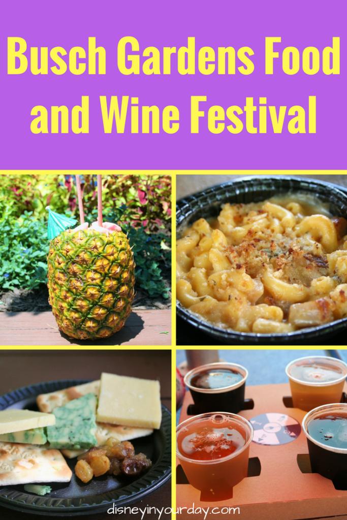 Busch gardens food and wine festival 2017 disney in your day for Busch gardens food and wine 2017