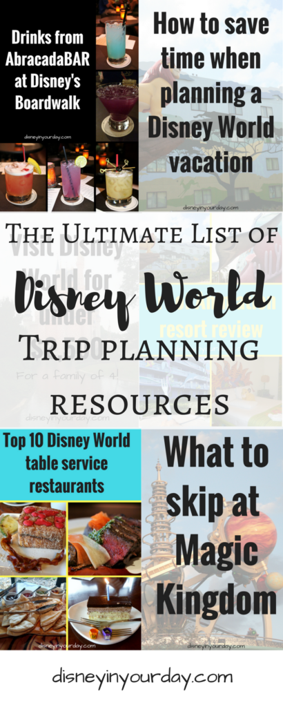 Disney World planning - Disney in your Day