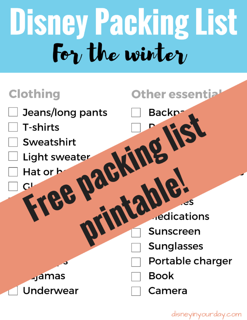 pack for a Disney trip in the winter - Disney in your Day