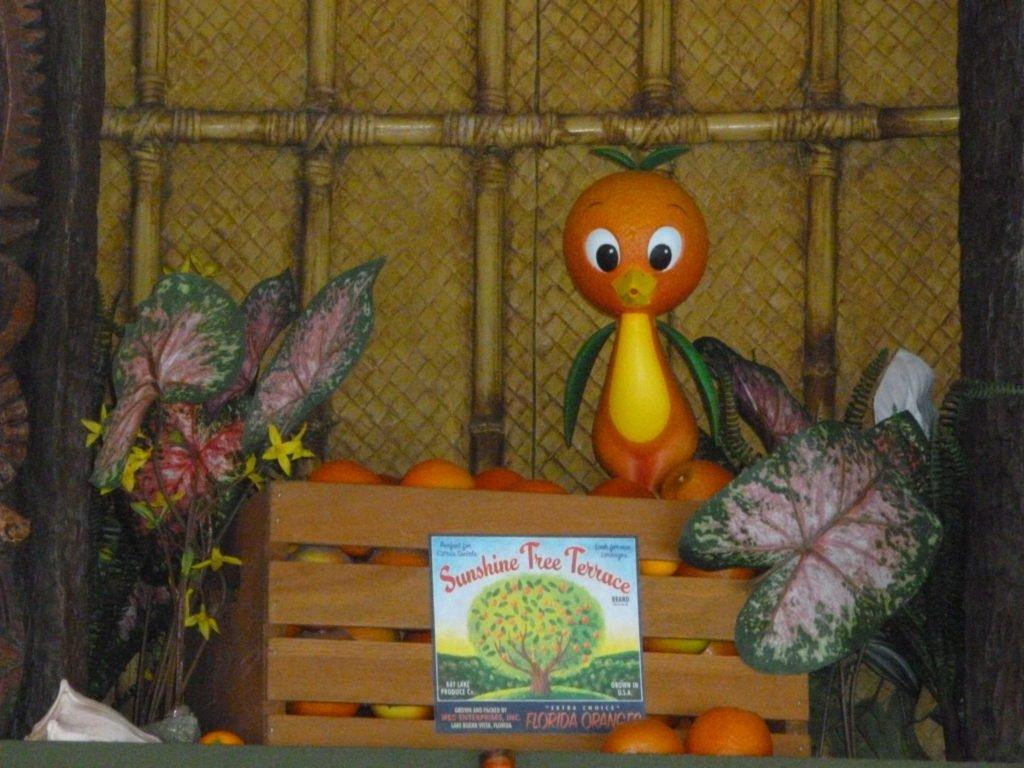 Disney's orange bird at Sunshine Tree Terrace- Disney in your Day