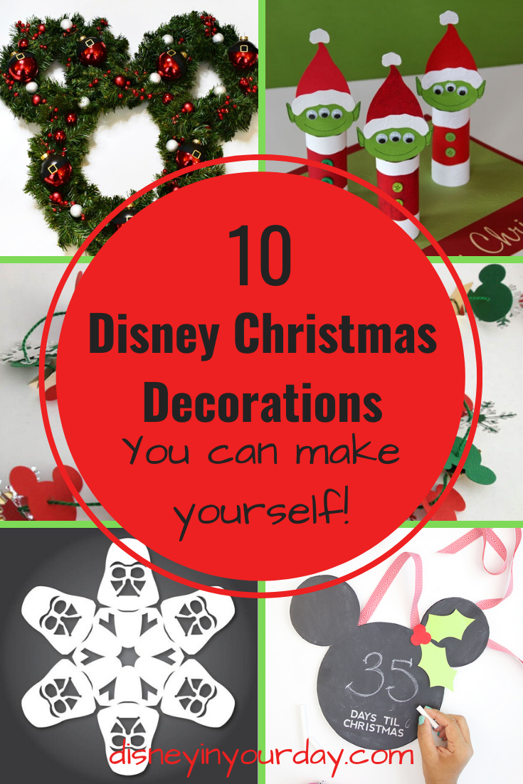 10 disney christmas decorations to make disney in your day disney in your day
