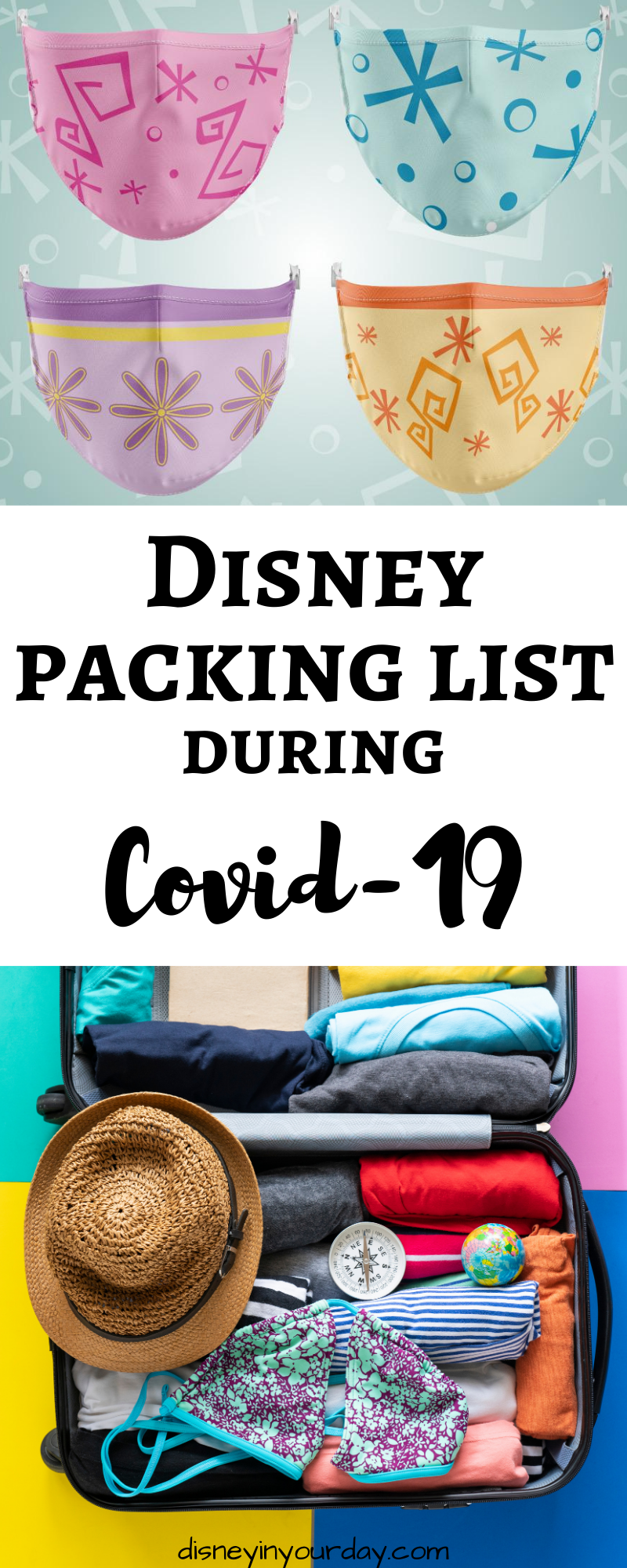 Disney packing list during COVID-19