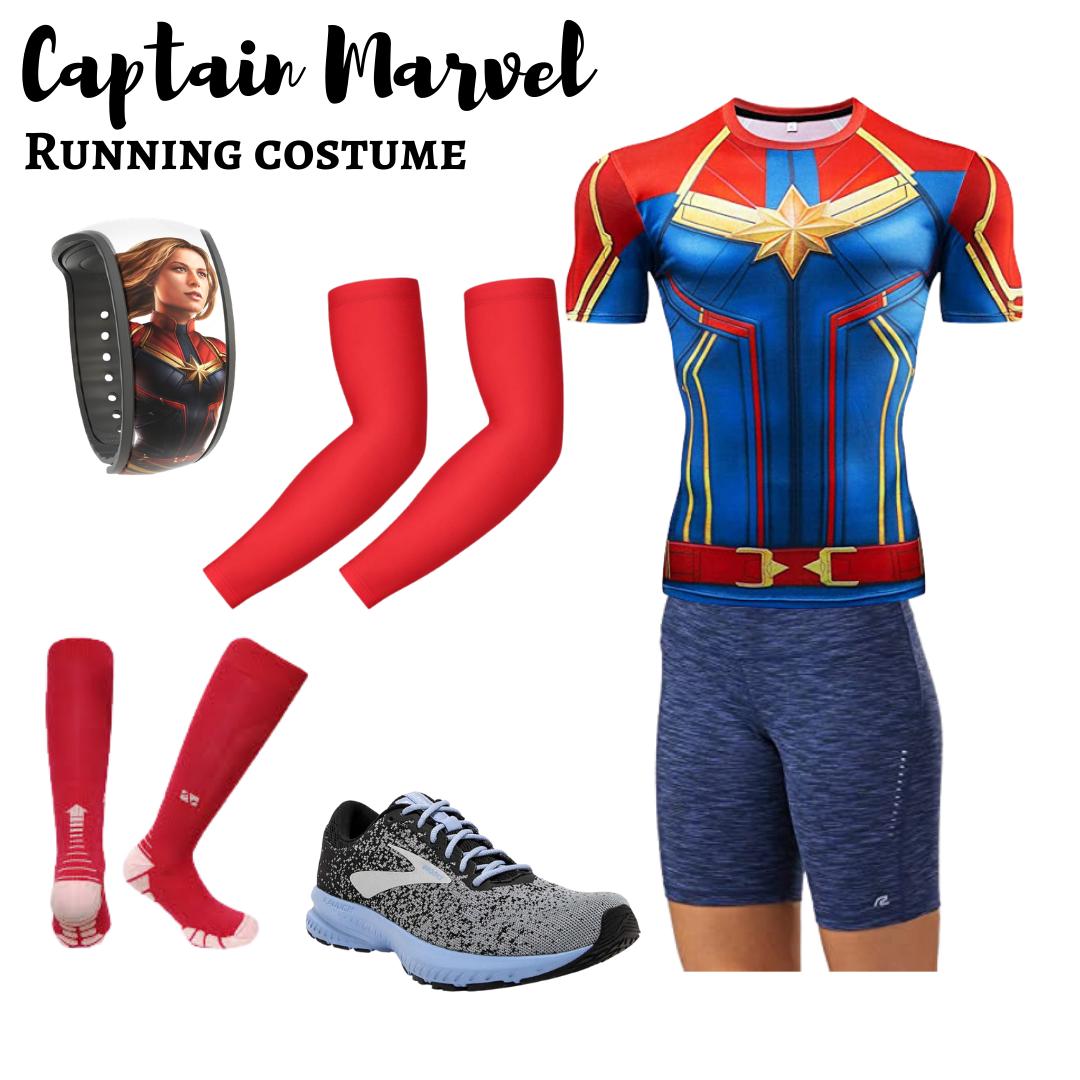 Captain Marvel running costume - Disney in your Day