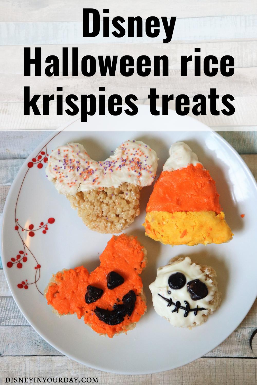Disney Halloween rice krispies treats - Disney in your Day