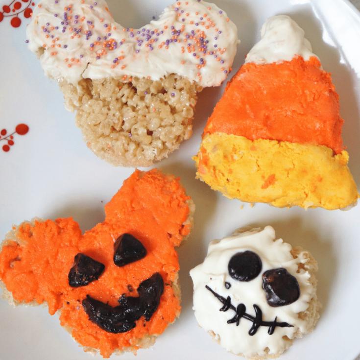 Disney Halloween rice krispies treats