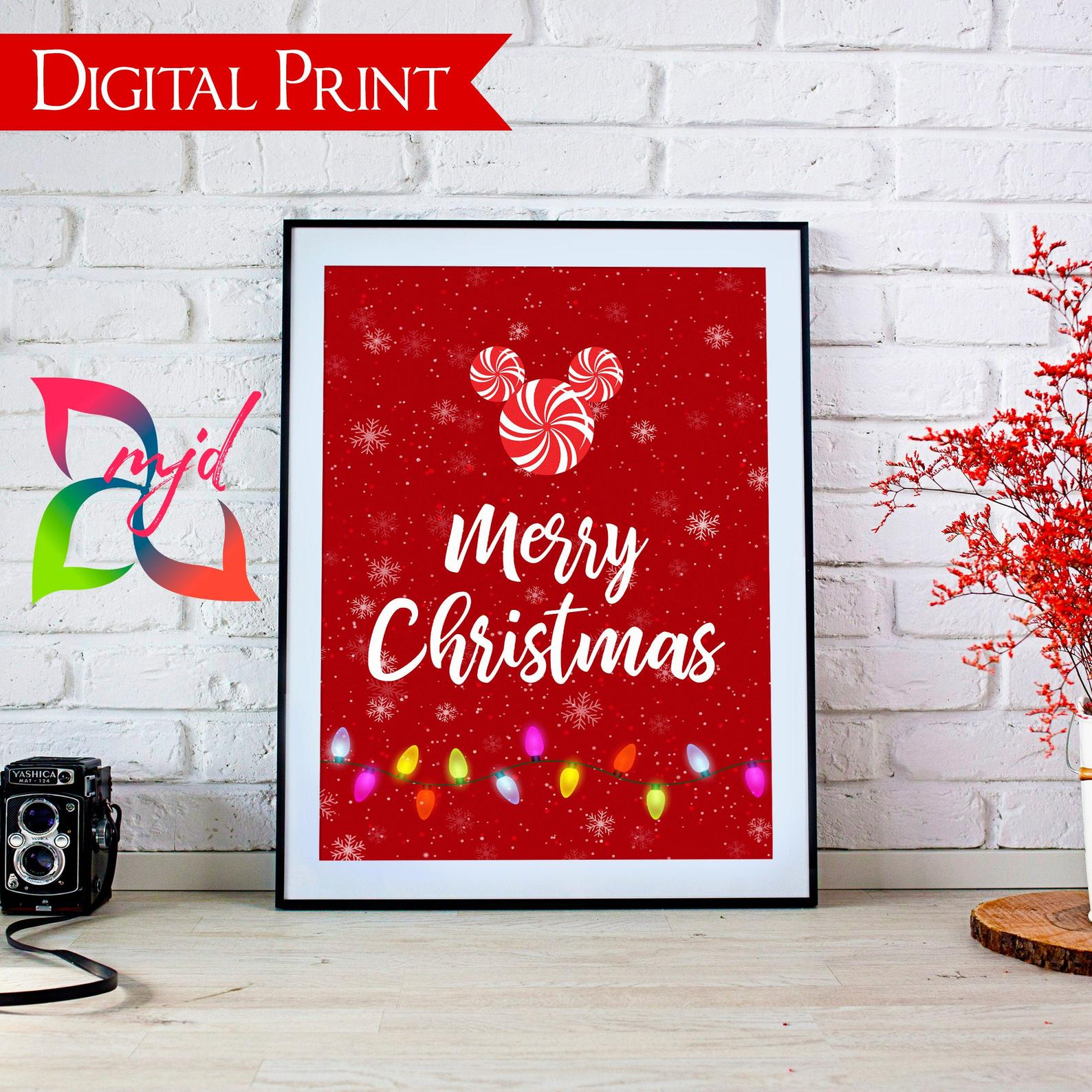Disney Christmas printables - Disney in your Day
