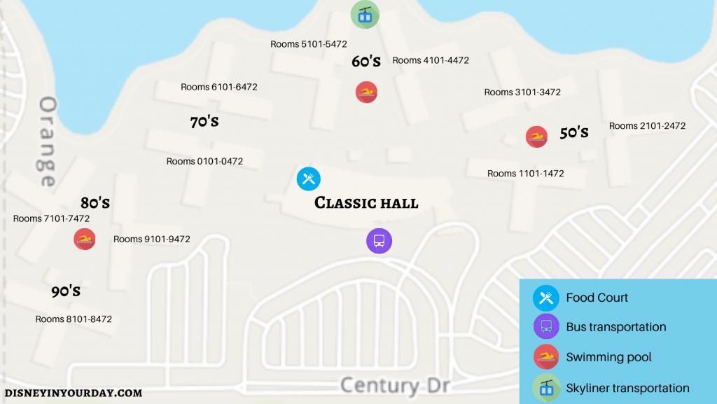 Disney's Pop Century map - Disney in your Day