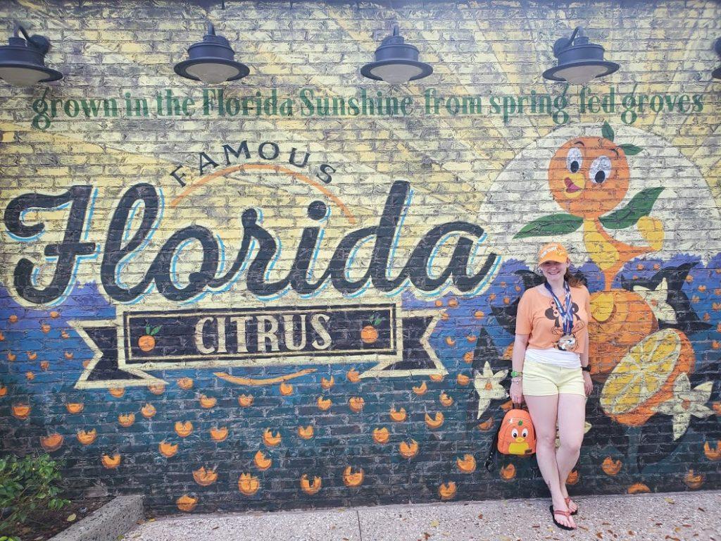 orange bird wall in Disney Springs - Disney in your Day