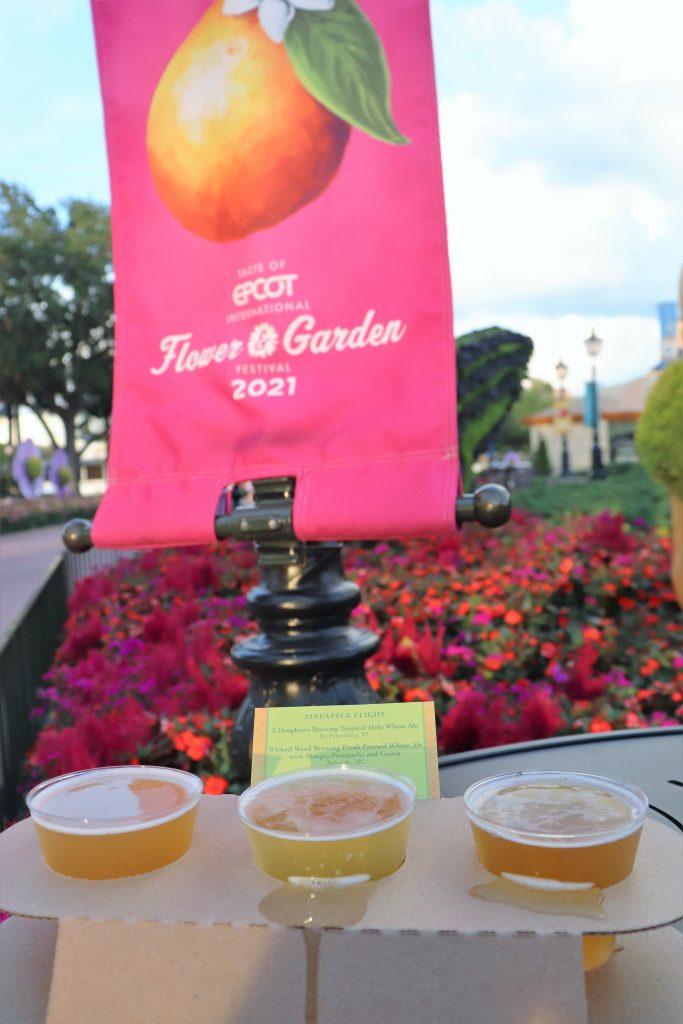 Best Flower and Garden Festival food and drinks - pineapple beer flight