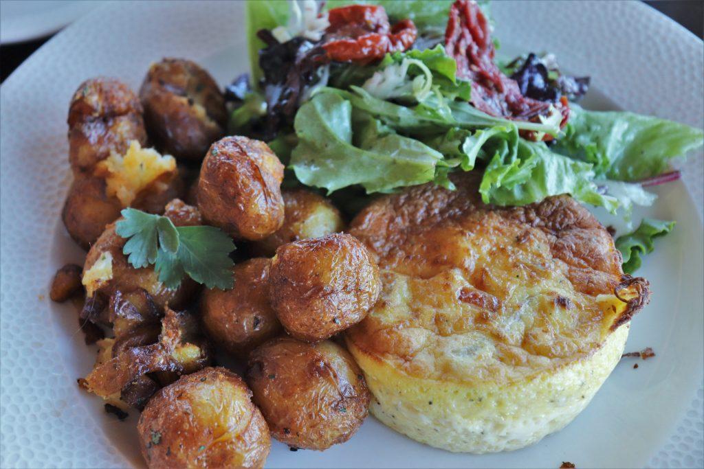 Topolino's Terrace character breakfast - quiche gruyere