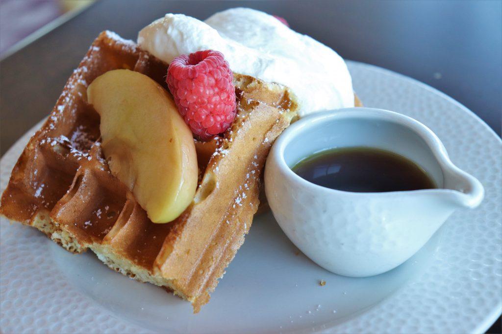 Topolino's Terrace character breakfast - sour cream waffles