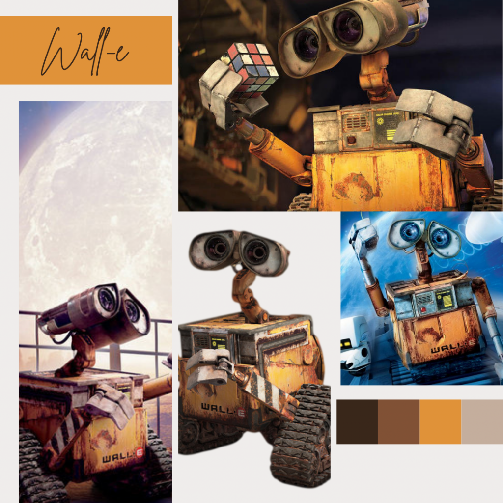 Wall-e Disneybound inspiration and color palette - Disney in your Day