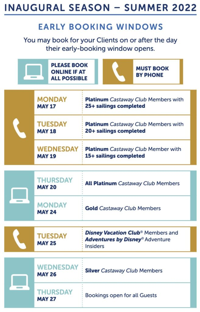 Disney Wish cruise ship - early booking and booking dates