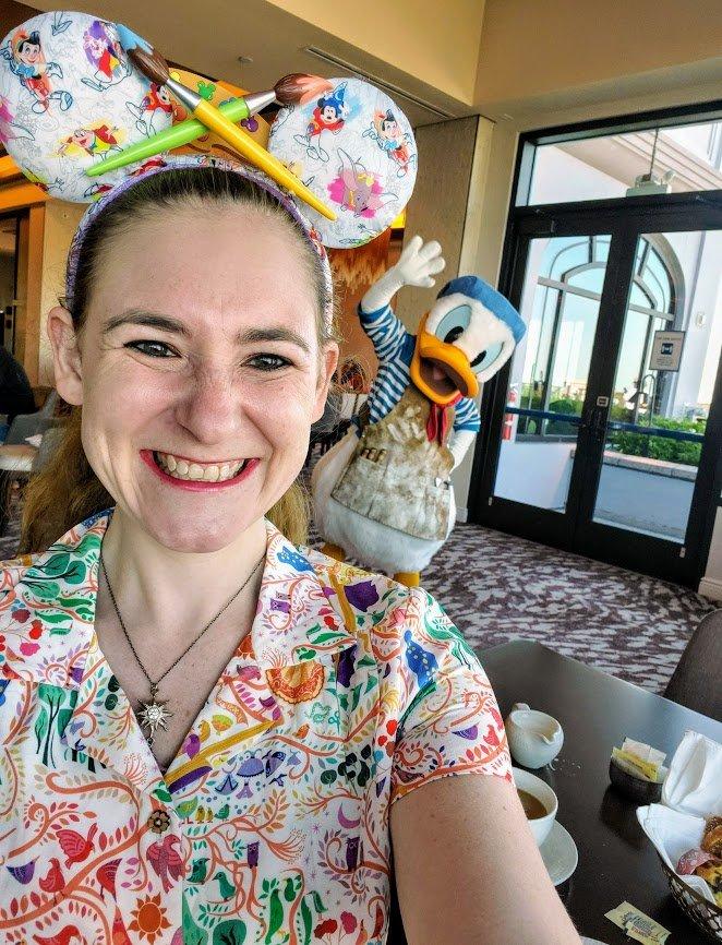 Topolino's Terrace character breakfast - Donald Duck