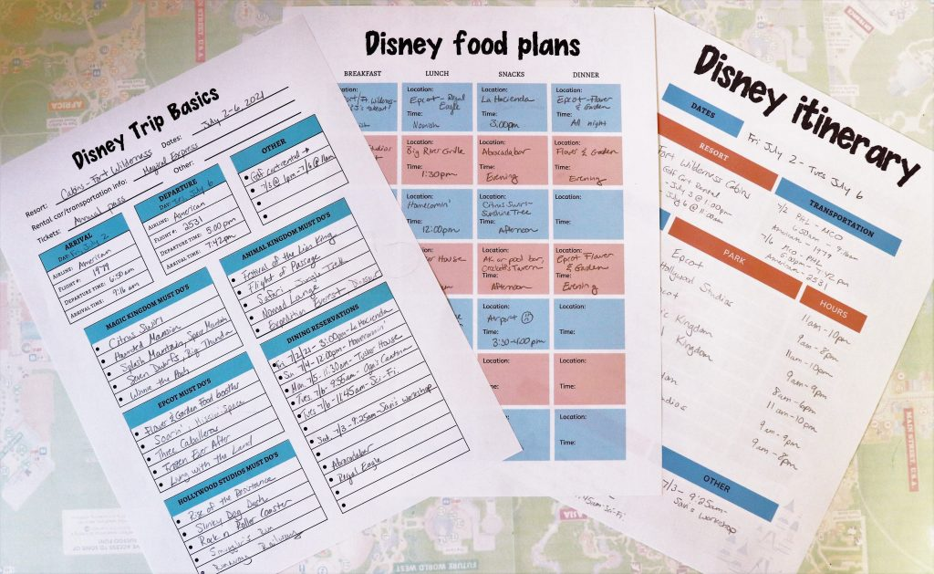 perfect Disney World itinerary - Disney in your Day