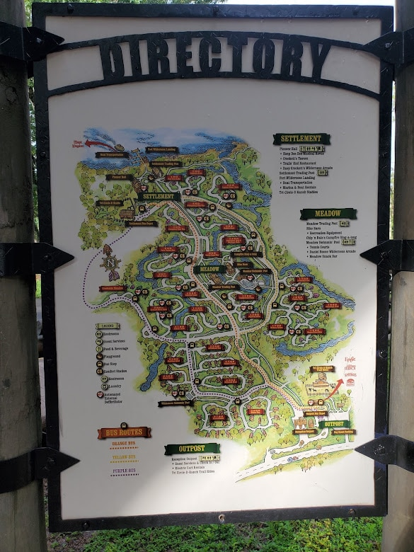 Fort Wilderness map - Disney in your Day