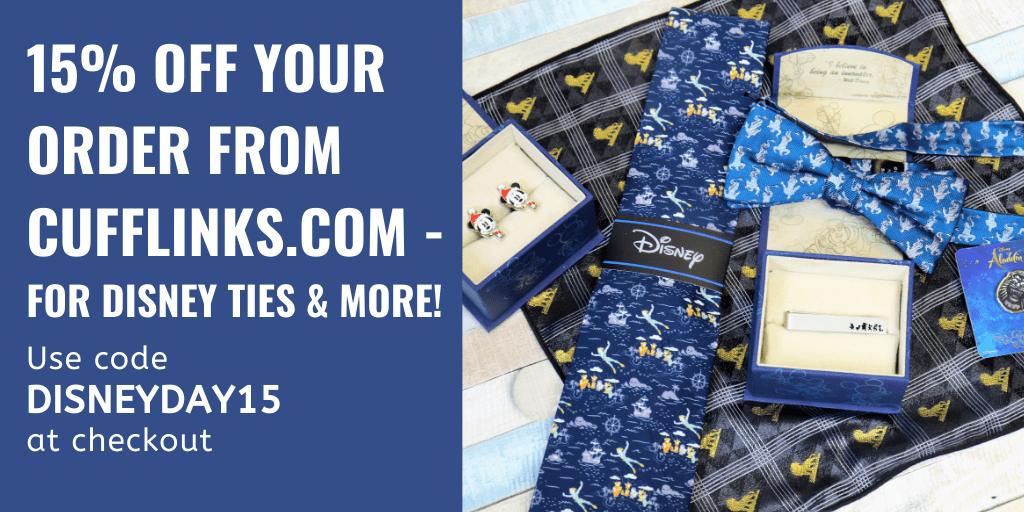 Disney ties cufflinks.com discount code - Disney in your Day